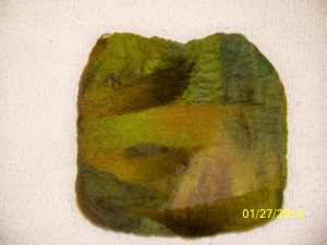 small felted pouch